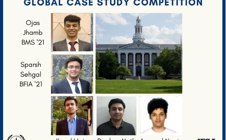 SSCBS won Harvard case study competition defeating 140 Teams