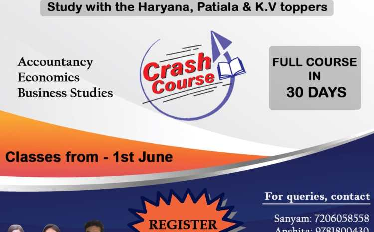 Special Crash Course available for class 12 (2021 Batch) by students of Shri Ram college of Commerce (SRCC), Delhi