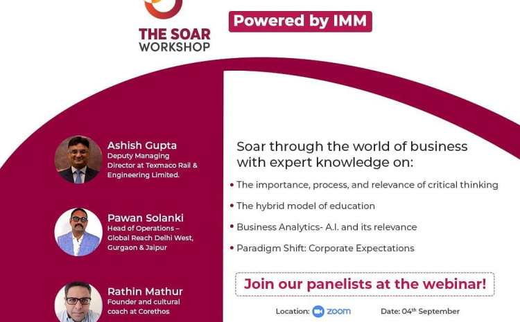 Institute of Marketing and Management welcomes you to attend the SOAR workshop