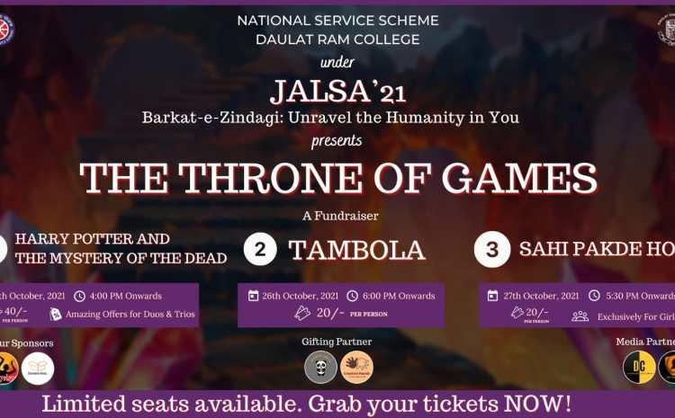 Jalsa is an Annual Diwali Mela organised by National Service Scheme unit of Daulat Ram College