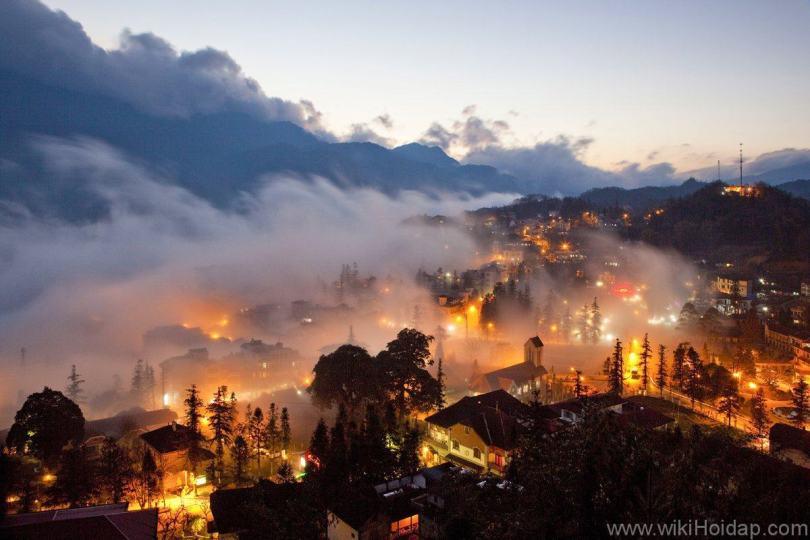 Hình ảnh thị trấn và khu du lịch Sa Pa Lào Cai