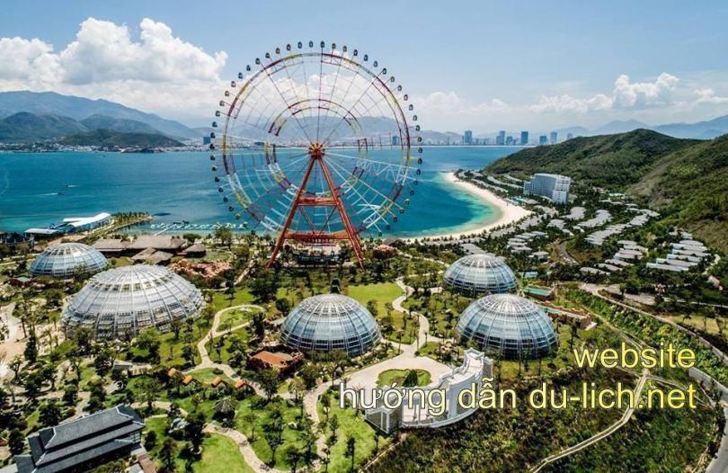 Hình ảnh toàn cảnh khu du lịch Vinpearl Land Nha Trang từ Flycam