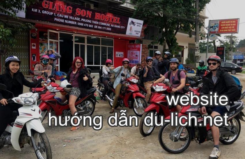Cơ sở cho thuê xe kiêm homestay của chị Giang Sơn