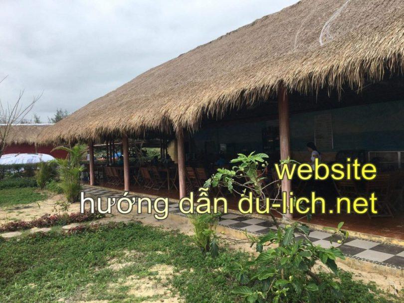 Khu vực nhà hàng, ăn uống, cafe, nghỉ tạm ở giữa Bãi Xép của Công ty Sao Việt