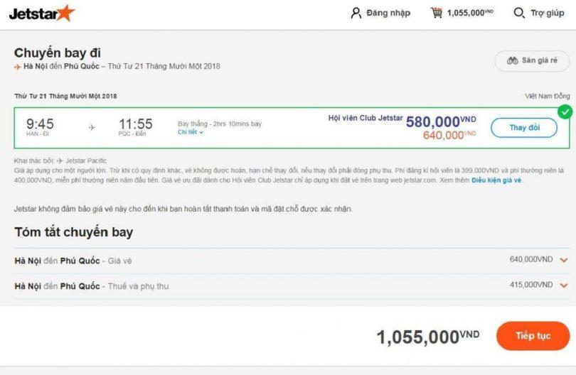 Chỉ 1 triệu đồng (đã gồm tất cả thuế + phí) là bay ngay
