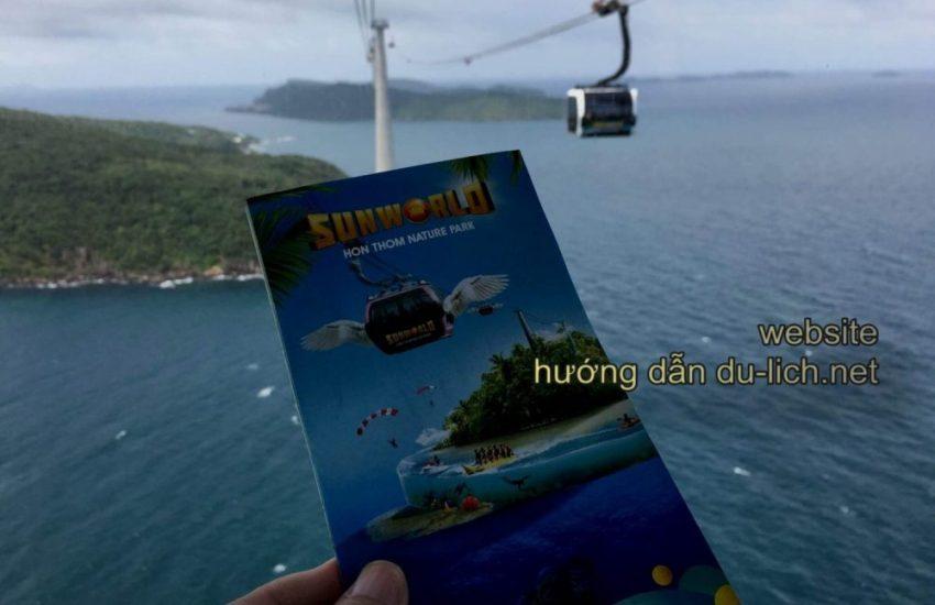 Bạn có thể mua vé cáp treo Hòn Thơm tại ga An Thới