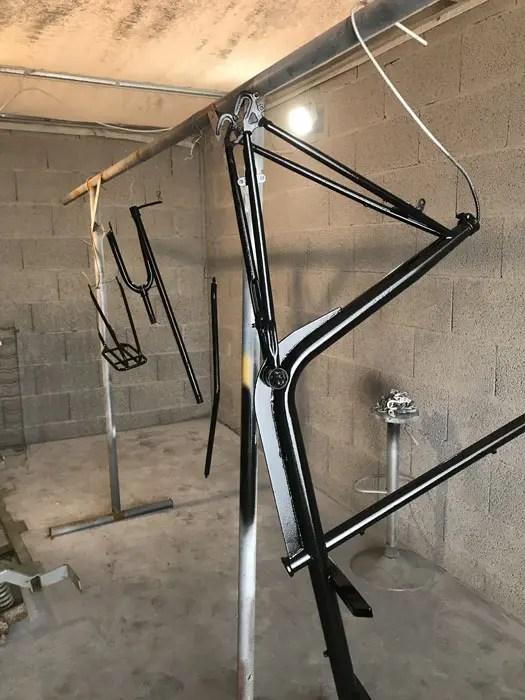 [Séchage en cours] Restauration d'un vélo bi-porteur
