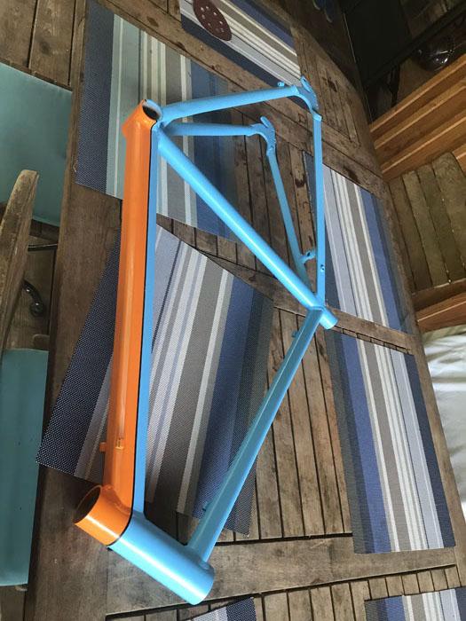 Décapage de cadre de vélo en Gironde