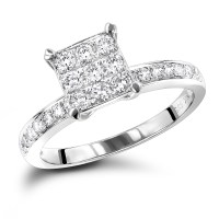 Affordable Diamond Engagement Rings 0.5 Carat Promise Ring