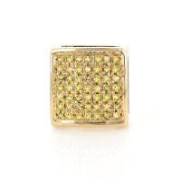Mens Diamond Earrings:Yellow Diamonds Stud Earring