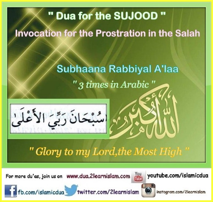 Dua for the Sujood - Islamic Du'as (Prayers and Adhkar)