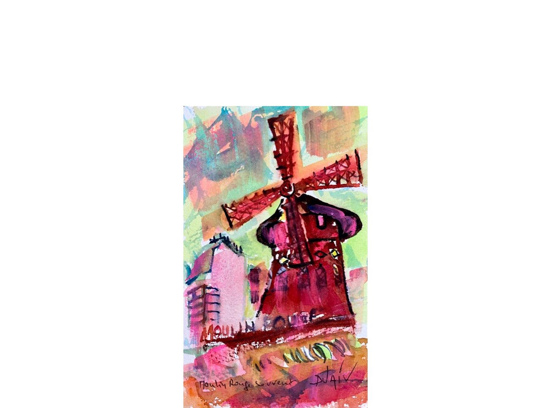 Moulin Rouge Souvenir 7'' x 4.5''