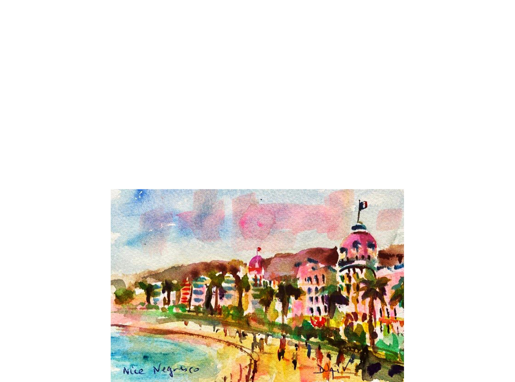 Nice Negresco Beach 4.5'' x 7''