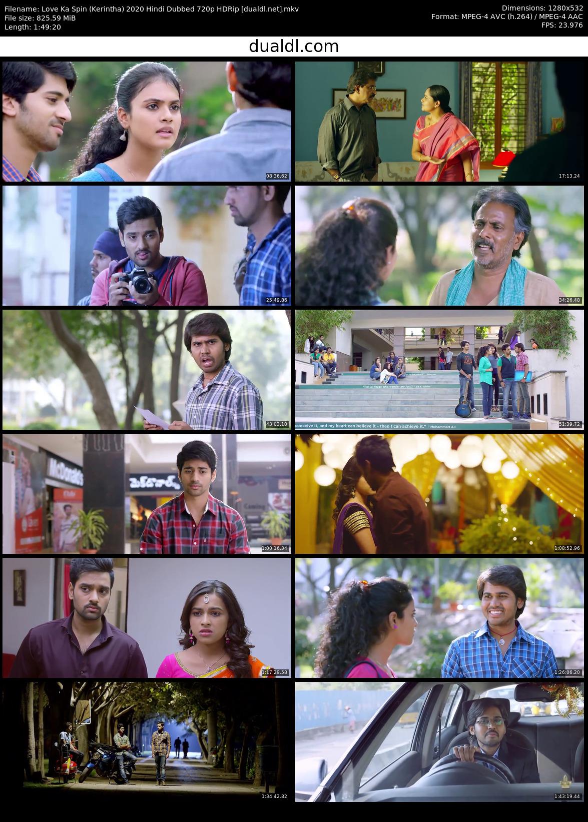 Love Ka Spin (Kerintha) 2020 Hindi Dubbed 720p HDRip Download