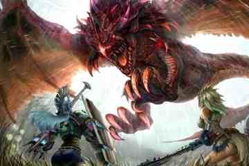 women_tails_wings_dragons_weapons_monster_hunter_fantasy_art_armor_red_eyes_artwork_warriors_white_h_Wallpaper_1920x1440_www-1.wallpaperhi.com
