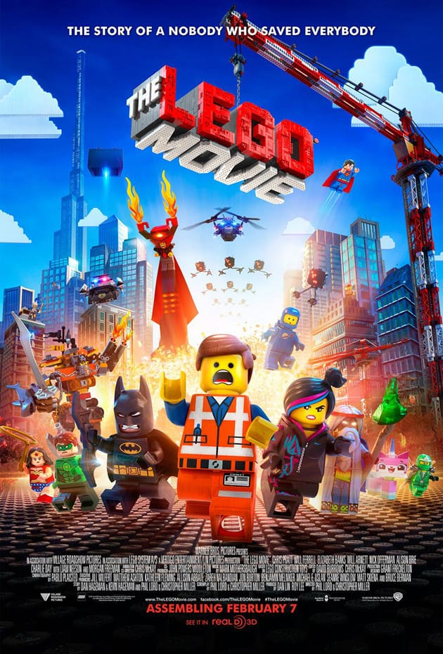 The movie poster of The LEGO movie, showcasing everything that is to be expected in this stellar animated film