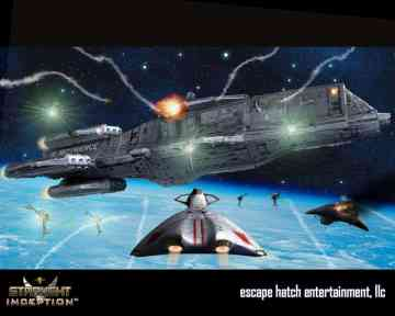 A snapshot of the action to come in Starlight Inception from Escape Hatch Studios.