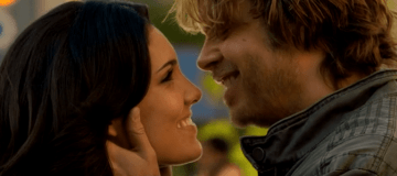 Deeks Kensi kiss break big smile