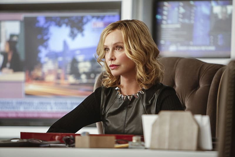 """Supergirl -- """"The Adventures Of Supergirl"""" -- Image SPG201b_0297 -- Pictured: Calista Flockhart as Cat -- Photo: Bettina Strauss/The CW -- © 2016 The CW Network, LLC. All Rights Reserved"""