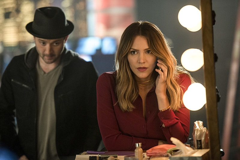 """""""We're Gonna Need a Bigger Vote"""" -- On Election Day, as democracy hangs in the balance, Team Scorpion is called on when someone tries to throw the U.S. presidential election into chaos, on SCORPION, Monday, Nov. 7 (10:00-11:00 PM, ET/PT), on the CBS Television Network. Pictured: Eddie Kaye Thomas, Katharine McPhee. Photo: Neil Jacobs/CBS ©2016 CBS Broadcasting, Inc. All Rights Reserved"""