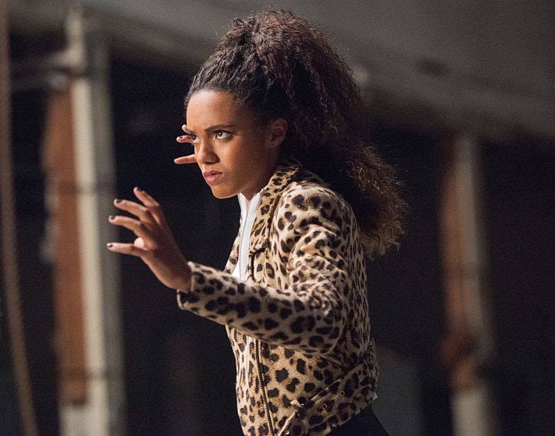 """DC's Legends of Tomorrow --""""Compromised""""-- Image LGN205a_0352.jpg -- Pictured: Maisie Richardson- Sellers as Amaya Jiwe/Vixen -- Photo: Dean Buscher/The CW -- © 2016 The CW Network, LLC. All Rights Reserved."""