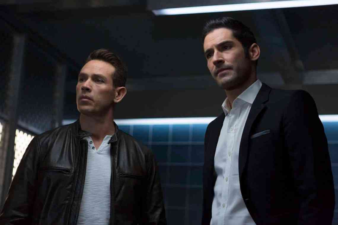"""LUCIFER: L-R: Kevin Alejandro and Tom Ellis in the """"Stewardess Interruptus"""" episode of LUCIFER airing Monday, Jan. 16 (9:01-10:00 PM ET/PT) on FOX. ©2017 Fox Broadcasting Co. Cr: Michael Courtney/FOX."""