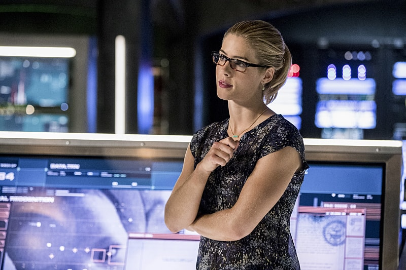 "Arrow -- ""What We Leave Behind"" -- Image AR509a_0266b.jpg -- Pictured: Emily Bett Rickards as Felicity Smoak -- Photo: Jack Rowand/The CW -- © 2016 The CW Network, LLC. All Rights Reserved."