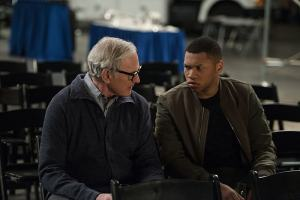 "DC's Legends of Tomorrow --""Invasion!""-- Image LGN207b_0244.jpg -- Pictured (L-R): Victor Garber as Professor Martin Stein and Franz Drameh as Jefferson ""Jax"" Jackson -- Photo: Diyah Pera/The CW -- © 2016 The CW Network, LLC. All Rights Reserved."