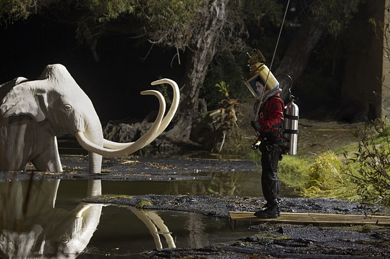 """This is the Pits"" -- Walter must swim through the deadly La Brea Tar Pits when Team Scorpion helps a woman trapped in the tar before she runs out of oxygen. Also, without Paige's knowledge, her mother, Veronica (guest star Lea Thompson), ""helps"" Ralph maximize his troop cookie sales, on SCORPION, Monday, Dec. 12 (10:00-11:00 PM, ET/PT) on the CBS Television Network. Pictured: Elyes Gabel; as Walter O'Brien. Photo: Monty Brinton/CBS ©2016 CBS Broadcasting, Inc. All Rights Reserved"