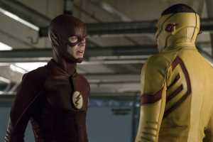"The Flash -- ""Borrowing Problems from the Future"" -- Image FLA310a_0154b.jpg -- Pictured (L-R): Grant Gustin as The Flash and Keiynan Lonsdale as Kid Flash -- Photo: Katie Yu/The CW -- © 2016 The CW Network, LLC. All rights reserved."