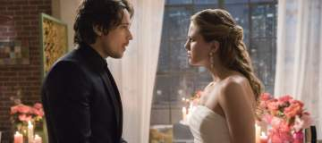 "Supergirl -- ""Mr. & Mrs. Mxyzptlk"" -- SPG213a_0117.jpg -- Pictured (L-R): Peter Gadiot as Mr. Mxyzptlk and Melissa Benoist as Kara -- Photo: Jack Rowand/The CW -- © 2017 The CW Network, LLC. All Rights Reserved"