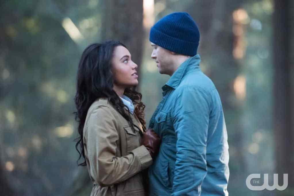 "DC's Legends of Tomorrow --""Land of the Lost""-- LGN213b_0211.jpg -- Pictured (L-R): Maisie Richardson- Sellers as Amaya Jiwe/Vixen and Nick Zano as Nate Heywood/Steel-- Photo: Dean Buscher/The CW -- © 2017 The CW Network, LLC. All Rights Reserved"