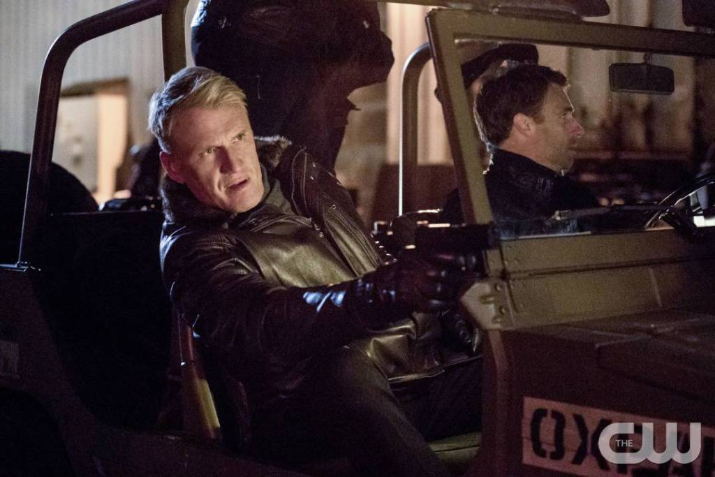 "Arrow -- ""Kapiushon"" -- Image AR517a_0114b.jpg -- Pictured: Dolph Lundgren as Konstantin Kovar -- Photo: Jack Rowand/The CW -- © 2017 The CW Network, LLC. All Rights Reserved."