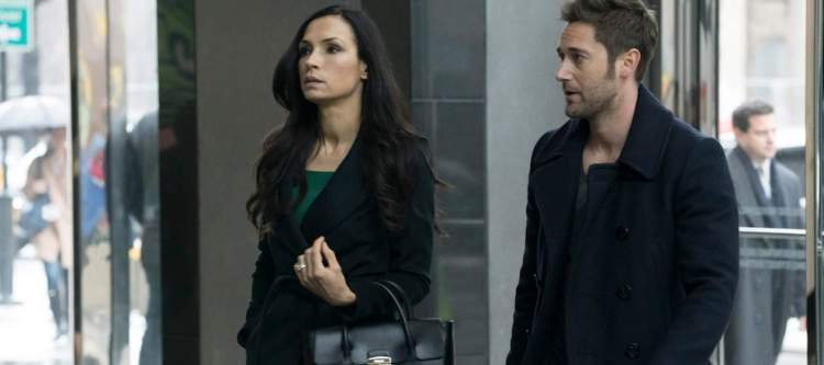 "THE BLACKLIST: REDEMPTION -- ""Leland Bray"" Episode 101 -- Pictured: (l-r) Famke Janssen as Susan ""Scottie"" Hargrave, Ryan Eggold as Tom Keen -- (Photo by: Virginia Sherwood/NBC)"