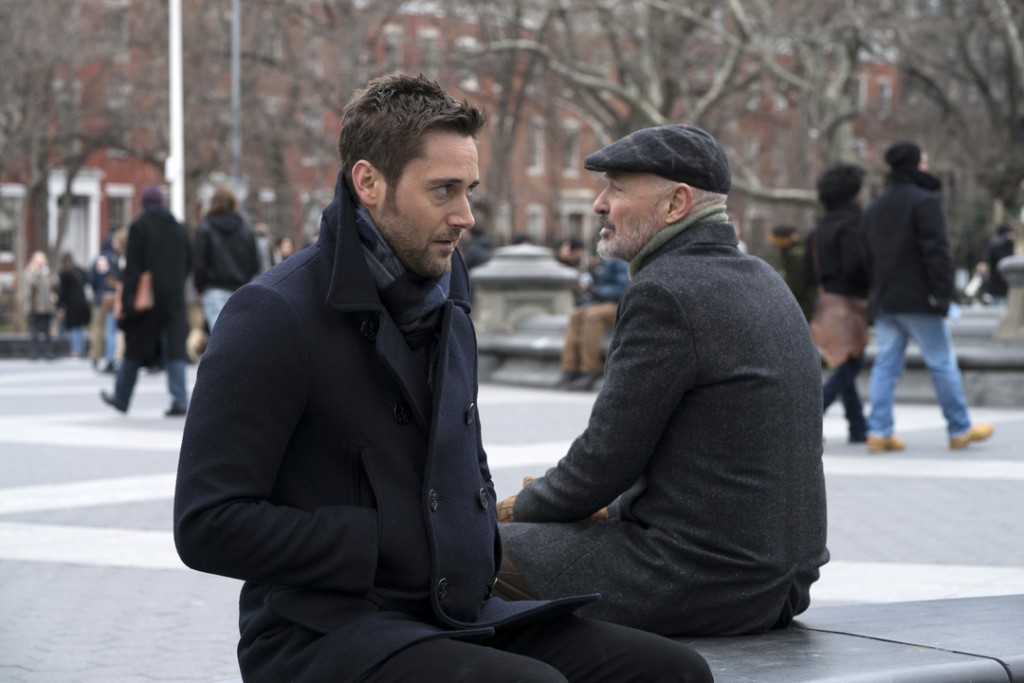 """THE BLACKLIST: REDEMPTION -- """"Operation Davenport"""" Episode 104 -- Pictured: (l-r) Ryan Eggold as Tom Keen, Terry O'Quinn as Howard Hargrave -- (Photo by: Virginia Sherwood/NBC)"""