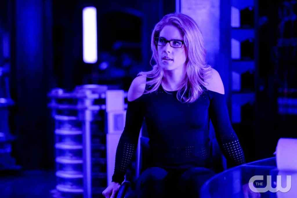 "Arrow -- ""Underneath""-- Image AR520a_0063b.jpg -- Pictured: Emily Bett Rickards as Felicity Smoak -- Photo: Robert Falconer/The CW -- © 2017 The CW Network, LLC. All Rights Reserved."
