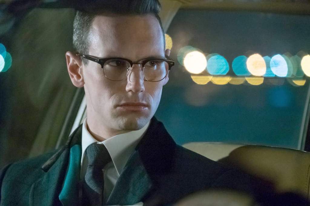 "GOTHAM: Cory Michael Smith in the ""Heroes Rise: The Primal Riddle"" episode of GOTHAM airing Monday, May 8 (8:00-9:01 PM ET/PT) on FOX. Cr: Jeff NeumannFOX"