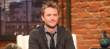 Chris Hardwick on the set of Talking Dead 2011