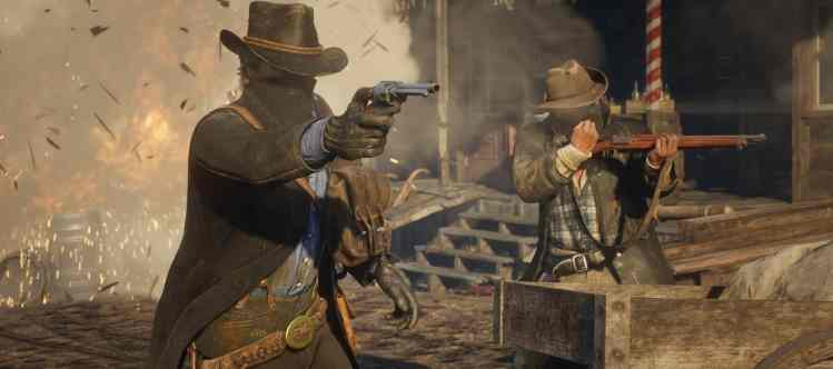 Red Dead Redemption 2 shootout screenshot.