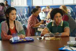 Yolanda and Beth in the cafeteria