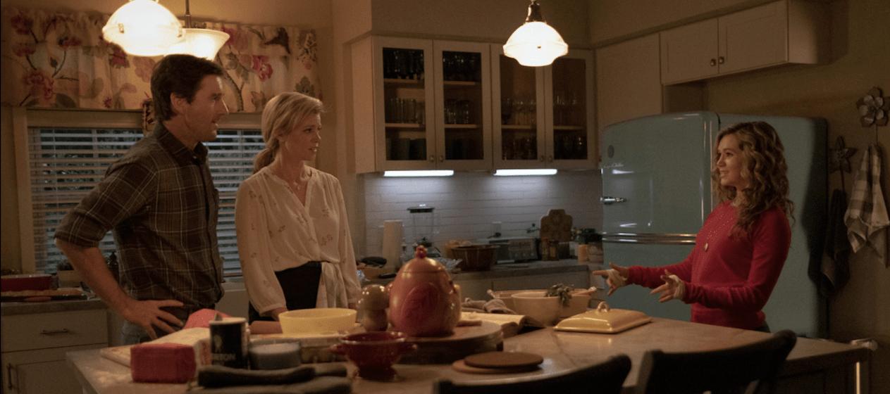 Dugan-Whitmore family in the kitchen