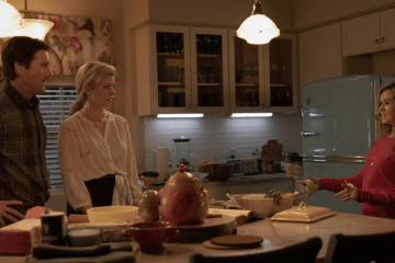 Dugan-Whitmore family in the kitchen