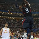 Dwyane Wade dunks in the 2008 Olympics