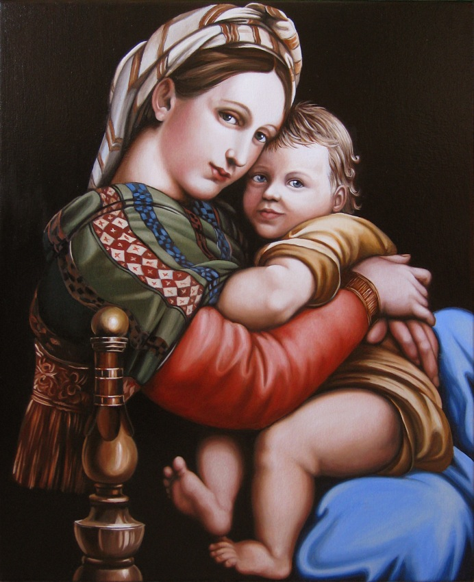Mother and Child.    2009, oil on canvas, 542 x 453mm.