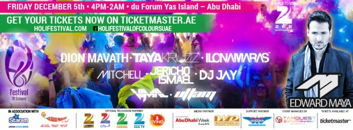Festival of colours Abu Dhabi 2014