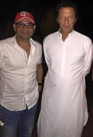 rakesh with imran khan in bani gala
