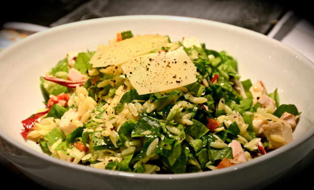 recipe: chicken florentine salad with orzo pasta [17]