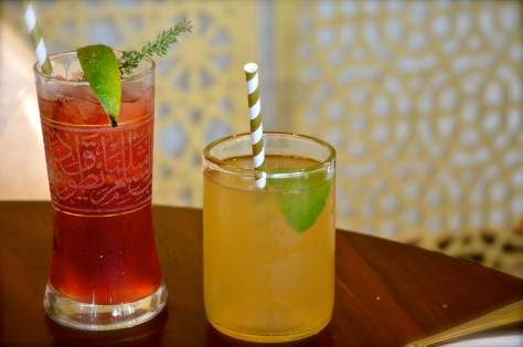 Moroccon Icea tea and Thyme of Innocence Mocktail
