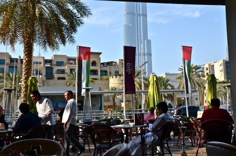 The view from our table at Boulevard Kitchen Manzil Downtown Dubai