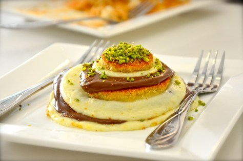 Kounefeh with Nutella & Cheese - dhs 35